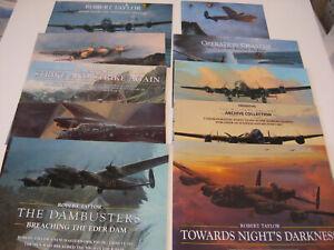 British Bombers RAF Robert Taylor 10 Aviation Art Advertising Flyers Brochures