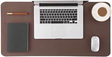 Genuine Leather Desk Pad Office Desk Mat Blotter on top of desk Large Waterproof