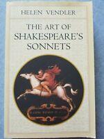 The Art of Shakespeare's Sonnets by Vendler, Helen ~ Paperback ~ BRAND NEW!