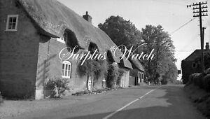 B/W Negative Wherwell Hampshire Village Scene 1949 + Copyright W473