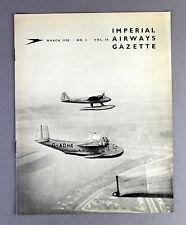 IMPERIAL AIRWAYS GAZETTE MARCH 1938 SHORT MAYO FLYING BOAT