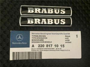 NEW METAL 3D 2x BRABUS Logo Car Side Emblem Badge Sticker Fender Badges for cars