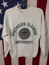 Vtg Siu Salukis Southern Illinois University Artex M Sweatshirt White Saluki !