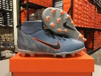 Nike Junior Superfly 6 Club FG/MG Soccer Cleats (Armory Blue/Grey) Size: 1-6 NEW