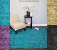 Solid Colors Premium Tufted Shag  Decorative 5.5' x 8' Floor Area Rug Carpet