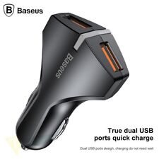 Dual USB 3.0 Car Charger Adapter LED Fast Charging For Samsung iPhone X 8 7 Plus