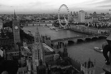 "LONDON SKYLINE WALL ART CANVAS PICTURE  LARGE 20"" X 30"" BLACK & WHITE   art dec"