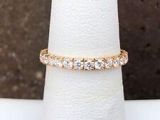 14K GOLD 1.00CT ROUND DIAMOND ETERNITY BAND SIZE 6