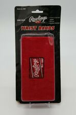"""Rawlings 6"""" Glove Wristbands (15.24 cm) One Pair Red Baseball Softball RWB NIB"""