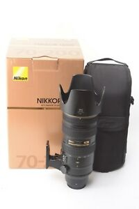 Nikon Nikkor AF-S 70-200mm f/2.8 G ED VR II Lens - Boxed with Pouch, Hood & Caps