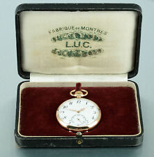 14k Gold L.U.C. Chopard pocket watch Switzerland 1900 in original box