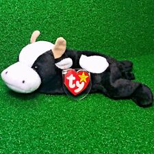 Rare 1994 TY BEANIE BABY DAISY COW PVC Plush Toy New RETIRED With ERRORS - MWMT
