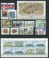 Iceland Year Set 1991 MNH Complete Including Postal Ships I Miniature Sheet