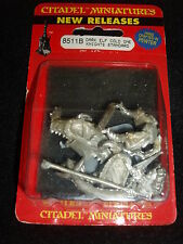 WarHammer Dark Elf COLD ONE KNIGHTS STANDARD BEARER © 1995