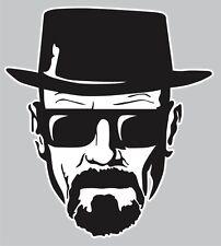 "Breaking Bad Sticker- 5"" Walter White Heisenberg Black/White Face Decal Sticker"