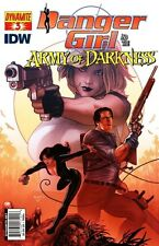 DANGER GIRL AND THE ARMY OF DARKNESS #3 SET OF 2 COVERS DYNAMITE COMICS