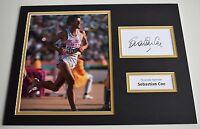 Sebastian Coe SIGNED autograph 16x12 photo display Olympics Los Angeles LA 1984
