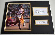 Sebastian Coe SIGNED autograph 16x12 photo display Olympics Los Angeles LA 1984