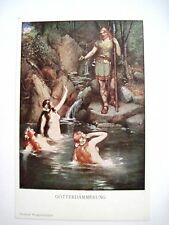 Great Vintage German Post Card (Germanic mythology) the downfall of the Gods*