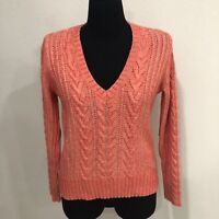 Eddie Bauer Women's Long Sleeve Cable Knit Sweater V-Neck Size S