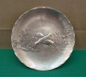 "Vintage Commemorative Wendell August Forge Aluminum Dish 7""  Bird in Flight"