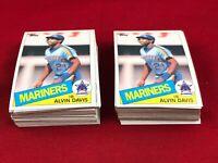 Brick Lot Of 100 Cards 1985 Topps Alvin Davis Rookie Baseball Card # 145 RG1