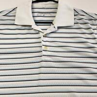 Nike Golf Men's Polo Activewear Shirt Small S Stripes Short Sleeves Dri Fit