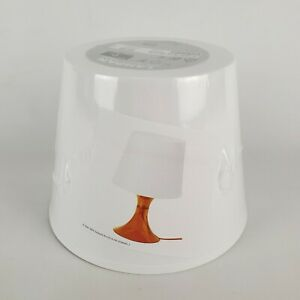"IKEA Lampan Table Lamp Desk White- Orange 11"" Art Deco Modern Bedroom New"