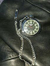 Dakota Watch Company /Silver  Quartz Pocket Watch, Chain/Clip, Works Greatt Used