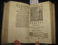 1581 Folengo. Opus Merlini Cocaii Poetae Mantuani Macaronicorum. 26 XILOGRAFIE