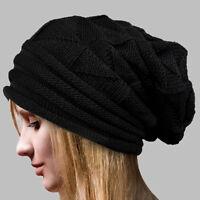 Women's Winter Warm Knit Crochet Wool Beanie Caps Ladies Slouch Ski Hip-Hop Hat