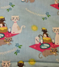 Kitty Cat Picnic Seed Aromatherapy Natural Herb Square Dream Pillow hot cold use