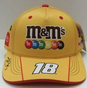 Kyle Busch 2021 M & M's Racing Sublimated Uniform Sponsor Hat # 18 - Free Ship