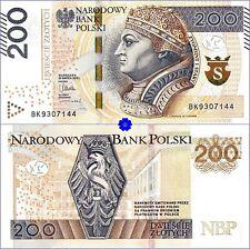 POLAND 200 ZLOTYCH 30.03.2015(16) *P-189*PREFIX BK*UNC-*Banknote