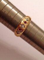 Fine Quality Edwardian 18ct Gold Natural Ruby & Diamond Set Ring