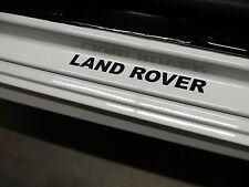 (2pcs) LAND ROVER doorstep badge decal - BLACK