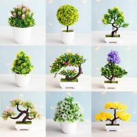 Flowers Wedding Plants Bonsai Small Tree Pot Fake Potted Ornaments Garden Decors
