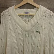 VTG Mens Izod Lacoste Tennis/Golf Cable knit Acrylic Crocodile Sweater Size L