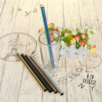 Diameter 12mm Stainless Steel Straws Reusable Cocktail Juice Drinking Straws HF