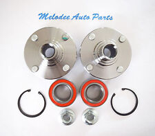 Front Left & Right Wheel Hub & 2 Front Wheel Bearing Set FORD  FOCUS  2000-2011