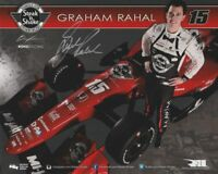 Graham Rahal 2016 Indy Car Indianapolis 500 Promo hero Card Autographed