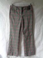 New York & Company Women's Gray Plaid Boot Cut Stretch Dress Pants Size 4 NWT