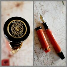 Vintage Parker Duofold Orange Fountain Pen – 1990 Orange precious resin