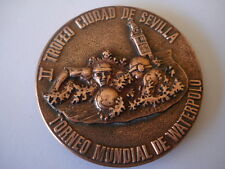 MEDAILLE COUPE DU MONDE WATER POLO SEVILLE 1986 TORNEO