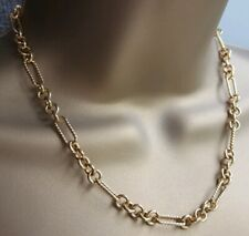 KIRKS FOLLY gold tone large link adjustable chain necklace