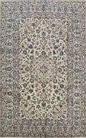 Vintage Ivory Floral Ardakan Classic Hand-Made Area Rug Traditional Carpet 6x10