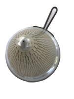 Vintage Aluminum Cone Colander Sieve Strainer Canning Heavy Duty