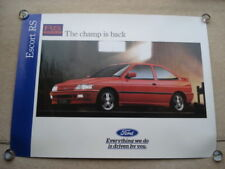 C1992 THE FORD ESCORT RS2000 THE CHAMP IS BACK FORD SHOWROOM ADVERTISING POSTER