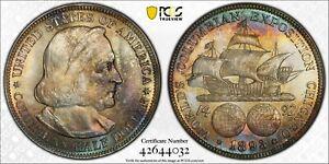 1893 Columbia Commemorative Silver Half Dollar  ~ PCGS MS65, NICE TONING!!!