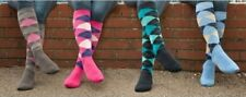 Ladies knee High Horse Riding Cotton Rich Socks ARGYLE DIAMOND Riding Socks uk